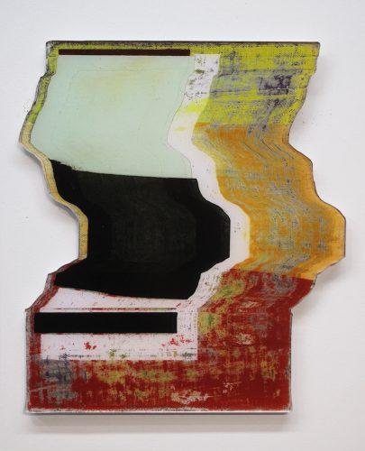 Jean-Benoit Pouliot Glissement découpé 1, 2015 Impression jet d'encre sur papier glacé opaque, monté sous plexi sans reflet, sur sintra Ink jet print on glossy opaque paper, mounted under plexi without reflexion, on sintra 36 x 32 cm (14'' x 12 1/2'')