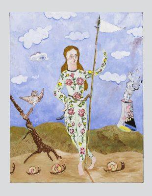 """Cynthia Girard-Renard Les fleurs animales, 2017 Huile sur toile Oil on canvas 95 x 70 cm (37,4"""" x 27,6"""")"""