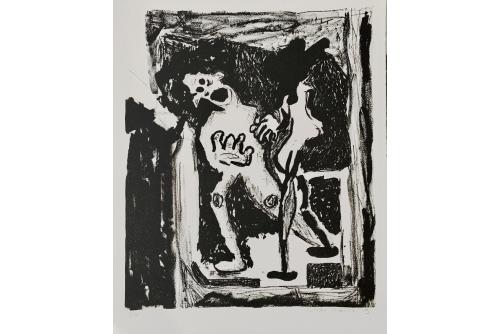 Cindy Phenix, Piège de dédoublement, 2015 Lithography on BFK paper Ed. 6 26,5 x 21,5 cm (10,5'' x 8,5'')