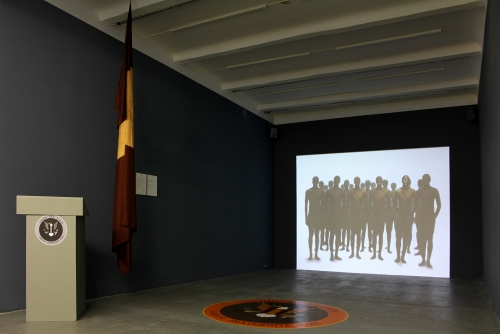Moridja Kitenge Banza, Union des États, 2009-2018 Installation (Berlin)