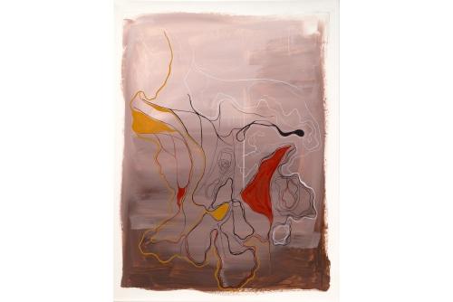 "Moridja Kitenge Banza, Chiromancie #10 No6, 2019 Ink on mylar 122x 91,5 cm (48"" x 36"") Private collection"