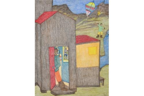 """Shuvinai Ashoona, Untitled, 2020 Graphite, crayon de couleur et encre sur papier (NON ENCADRÉE) 76 x 58,5 cm (30"""" x 23"""")"""