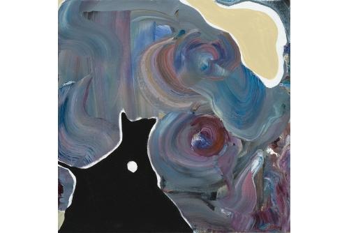 """Manuel Mathieu, Study on a Movement, 2019 Techniques mixtes sur toile 61 x 61 cm (24"""" x 24"""")"""