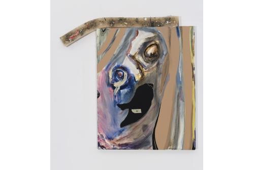"""Manuel Mathieu, The Last Portrait, 2019 Techniques mixtes 81 x 84 cm (32"""" x 33"""")"""