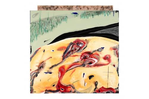 "Manuel Mathieu, Imaginary Landscape, 2019 Mixed media on canvas 190,5 x 173 cm (75"" x 68"") Collection Desjardins"
