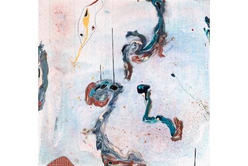 """Manuel Mathieu, The Fall, 2019 Mixed media on canvas 180 x 170 cm (71"""" x 67"""") Collection of the Musée d'art contemporain de Montréal"""