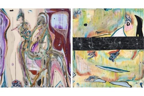 Manuel Mathieu, Untitled (PAMM), 2019 Techniques mixtes sur toile