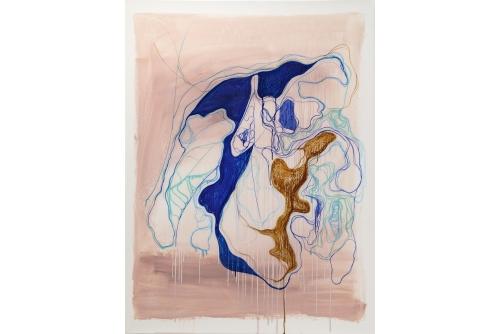 "Moridja Kitenge Banza, Chiromancie #10 No6, 2019 Ink on mylar 122x 91,5 cm (48"" x 36"")"