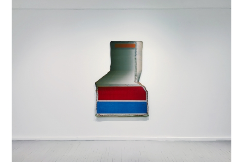 "Jean-Benoit Pouliot, Twisty, 2020 Digital print on shaped aluminium 169 x 121 cm (66,5"" x 47,5"")"