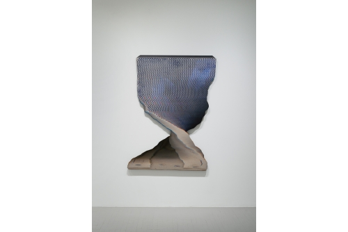"Jean-Benoit Pouliot, Pivot, 2020 Digital print mounted on shaped aluminium 154 x 108 cm (60,5"" x 42,5"") $6500 CAD"