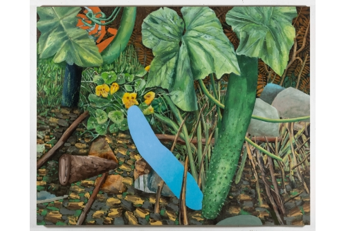 "David Lafrance, Pass the mic, 2021 Oil on canvas 182,9 x 228,6 cm (72"" x 90"")"