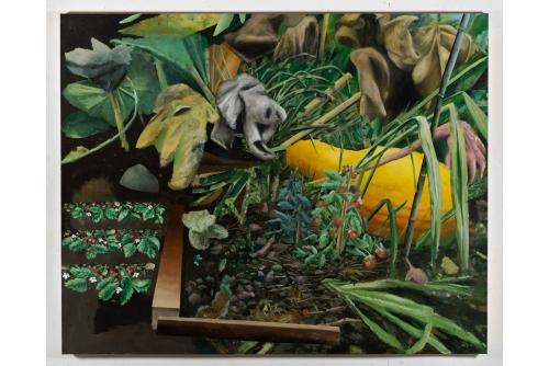 "David Lafrance, Nécromancie, 2021 Oil on canvas 182,9 x 228,6 cm (72"" x 90"")"