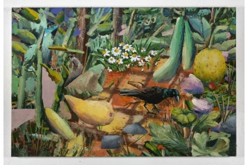 """David Lafrance, Faire pousser 01, 2021 Oil on canvas 53,3 x 81,3 cm (21"""" x 32"""")"""