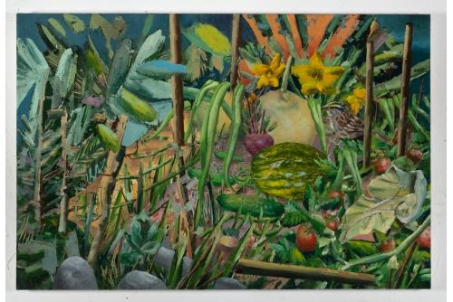 """David Lafrance, Faire pousser 02, 2021 Oil on canvas 53,3 x 81,3 cm (21"""" x 32"""")"""