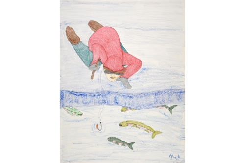 """Shuvinai Ashoona, Untitled, 2020 Graphite, colour pencil, ink and pastel on paper (UNFRAMED) 76 x 58,5 cm (29,9"""" x 23"""") $2600"""